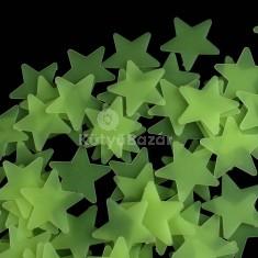 Gyerekszoba dekoráció, világító csillagok, foszforeszkáló csillagok 100 db