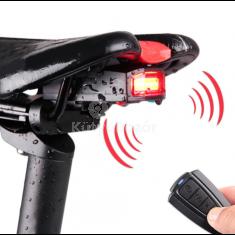 Riasztóval ellátott bicikli lámpa
