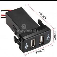 Autóba építhető dual USB port