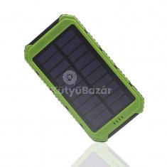 20000 mAh-s napelemes töltő LED lámpával