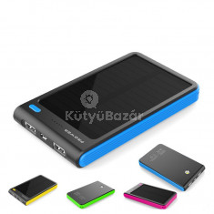 Prémium dual usb-s 8000 mAh-s napelemes power bank