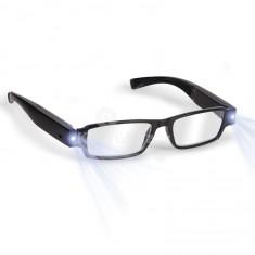 LED olvasószemüveg 0 dioptriás, kipattintható lencsével