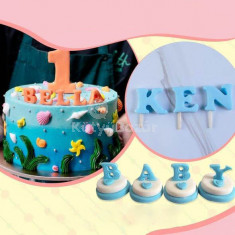 ABC betű szaggató tortadíszítéshez, ABC-s fondant forma