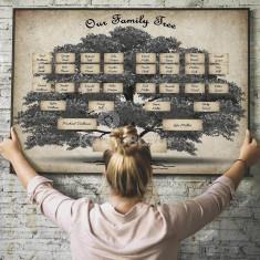 Művészi családfa sablon, fali családfa plakát
