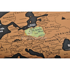 Világtérkép, kaparós térkép (extrákkal)