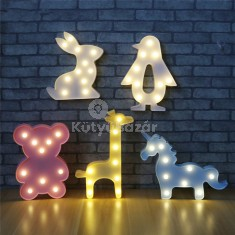 3D állat formájú éjjeli dekor világítás