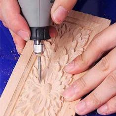 Fafaragó és gravírozó fúrófej készlet (5 db)