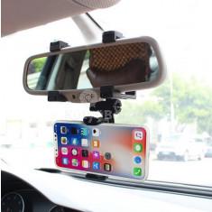 Középső visszapillantóra szerelhető, rezgésmentes telefontartó