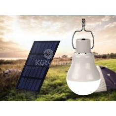 Hordozható napelemes LED villanykörte 15w 130 LM