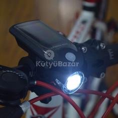 Napelemes bicikli első lámpa