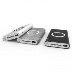 Hordozható 10000mAh powerbank és Qi mobiltöltő