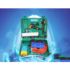 Szivargyújtóról működtethető komplex autómosó készlet