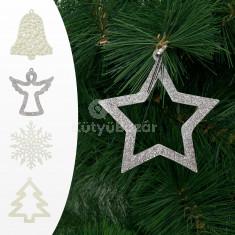 Karácsonyfadísz - többféle - 10 cm - 6 db