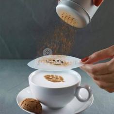Latte art barista sablon, kávé díszítő sablon