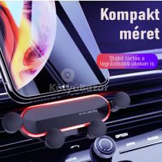 Autós telefontartó szellőzőrácsra- Gravitációs (nyújtott kialakítás)