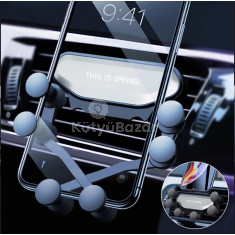 Autós telefontartó szellőzőrácsra - Gravitációs 6 pontos rögzítéssel