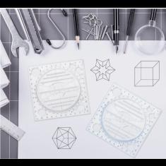 Tervező vonalzó, Művész vonalzó, Multifunkcionális forgatható rajzvonalzó