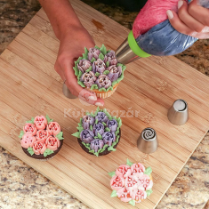 Sütemény Díszítő Készlet Habzsákkal