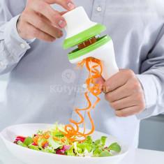 Zöldség spirálozó, zöldségszeletelő, spirálvágó
