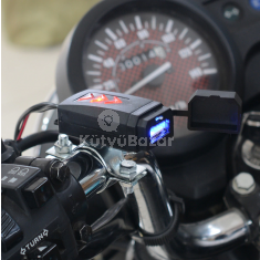 Motor kormányra szerelhető vízálló USB töltő