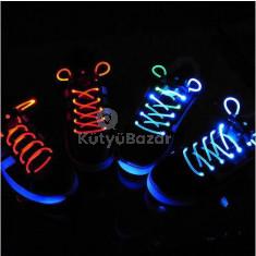 Világító cipőfűző 1 pár LED cipőfűző Rózsaszín
