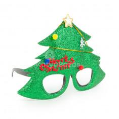 Party szemüveg - Karácsonyfa mintával 3 db
