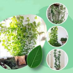 Levél formás mászó növény rögzítő öntapadós csat (10 db)