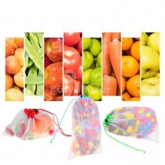 Újrafelhasználható hálós mosható öko-barát táskák