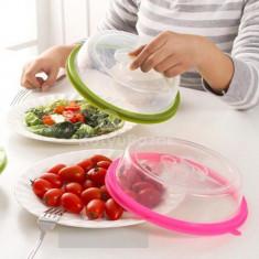 Átlátszó műanyag ételfedő