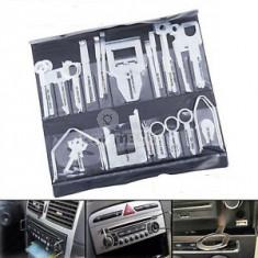 Autórádió kiemelő és telepítő szerszámkészlet (38 db-os)