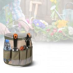Vödörre húzható, zsebes tároló kerti szerszámoknak