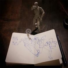 Realisztikus manöken figura illusztrátoroknak