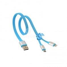 2 az 1-ben cipzáras usb töltő kábel