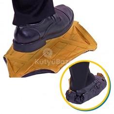Kéz nélkül felvehető cipővédő