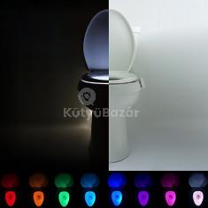 WC kalauz - a csésze világítás