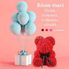 Aranyos rózsa maci, a tökéletes ajándék
