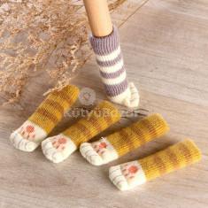 Székláb zokni cica tappancsos (4 db)