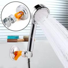 Zuhanyfej tartó, zuhanyrózsa tartó (forgatható, krómozott)