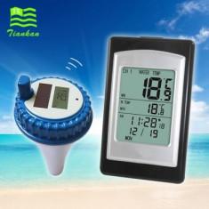 Napelemes medence hőmérő LCD kijelzővel