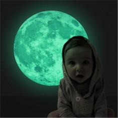 Foszforeszkáló Hold falmatrica