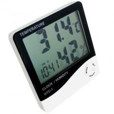 Digitális időjárás állomás hőmérő hőmérséklet páratartalom mérő asztali óra