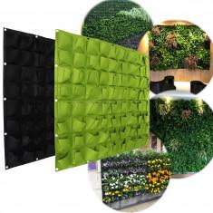72 zsebes falra akasztható virágtartó