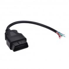 Szerelhető OBD 2-es kábel 16pin-es apa csatlakozóval és nyitott kábelvéggel