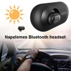 Napelemes Bluetooth-os autós headset