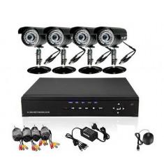 4 kamerás megfigyelő rendszer, kamerarendszer, megfigyelő központtal és kamerákkal 4 kamerás kamera szett