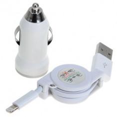 iPhone lightning autós szivargyújtó töltő és felcsavarható USB iPhone/iPad kábel